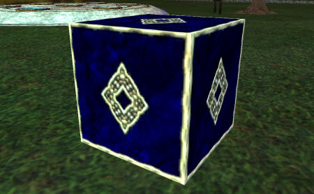 Elaborate Sapphire Building Cube