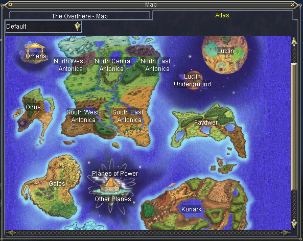 Everquest news tip of the week the cartography system 50907 the atlas is a full color interactive map of the world that can be used to point and click from gumiabroncs Image collections